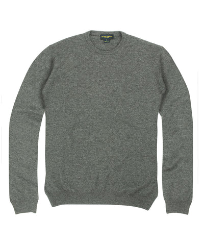 100% Cashmere Crewneck Sweater w/ Loro Piana Yarn - Grey