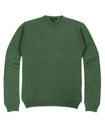 100% Cashmere Crewneck Sweater w/ Loro Piana Yarn - Forest