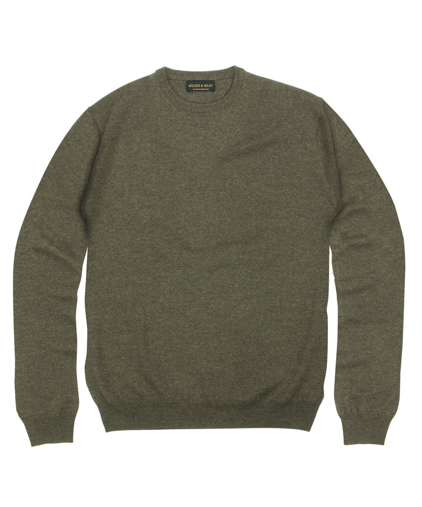 Wilkes &amp; Riley 100% Pure Merino Wool Zegna Baruffa Crewneck Sweater in Brown>VIEW FULL SIZE IMAGE</a>                                                                                                         <div id=
