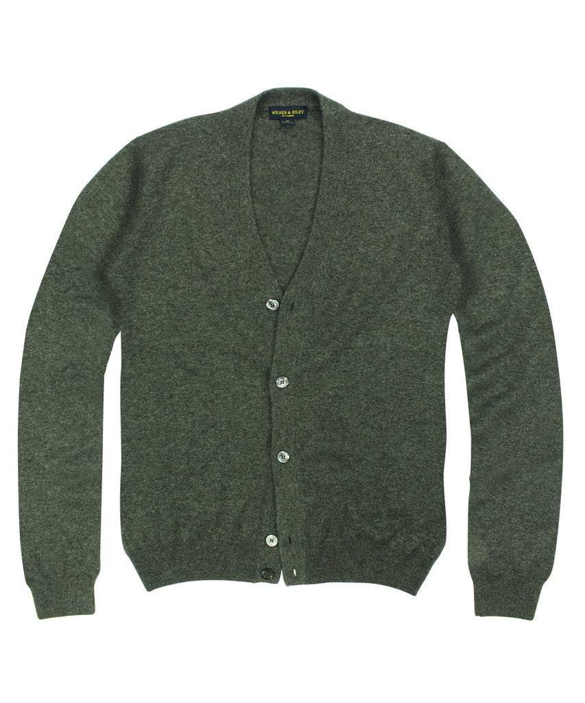 Wilkes &amp; Riley 100% Cashmere Cardigan Sweater W/ Loro Piana Yarn - Charcoal>VIEW FULL SIZE IMAGE</a>                                                                                                         <div id=