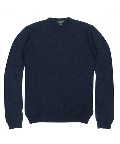 100% Cashmere Crewneck Sweater w/ Loro Piana Yarn - Navy