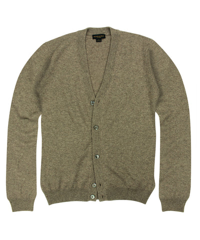 100% Cashmere Cardigan Sweater w/ Loro Piana Yarn - Taupe