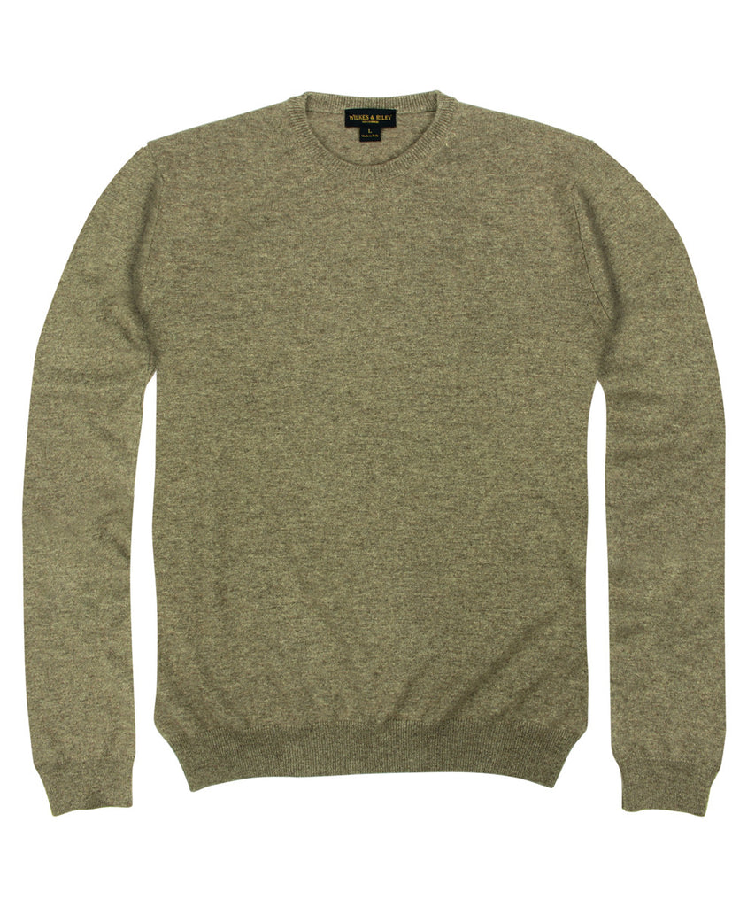 Wilkes &amp; Riley 100% Cashmere Crewneck Sweater W/ Loro Piana Yarn in Taupe>VIEW FULL SIZE IMAGE</a>                                                                                                         <div id=