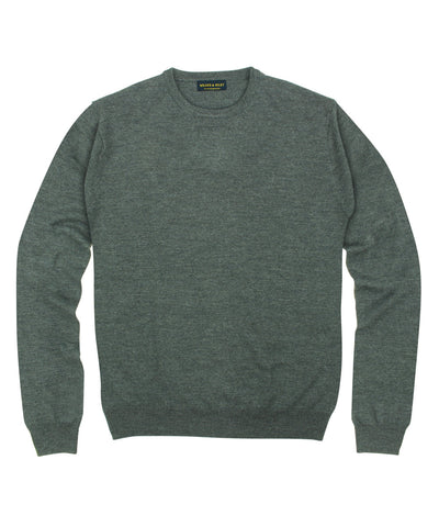 100% Pure Merino Wool Zegna Baruffa Crewneck Sweater - Grey