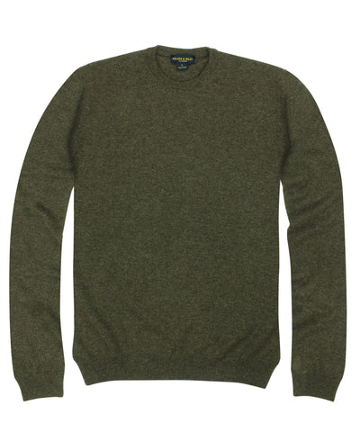 100% Cashmere Crewneck Sweater w/ Loro Piana Yarn - Brown