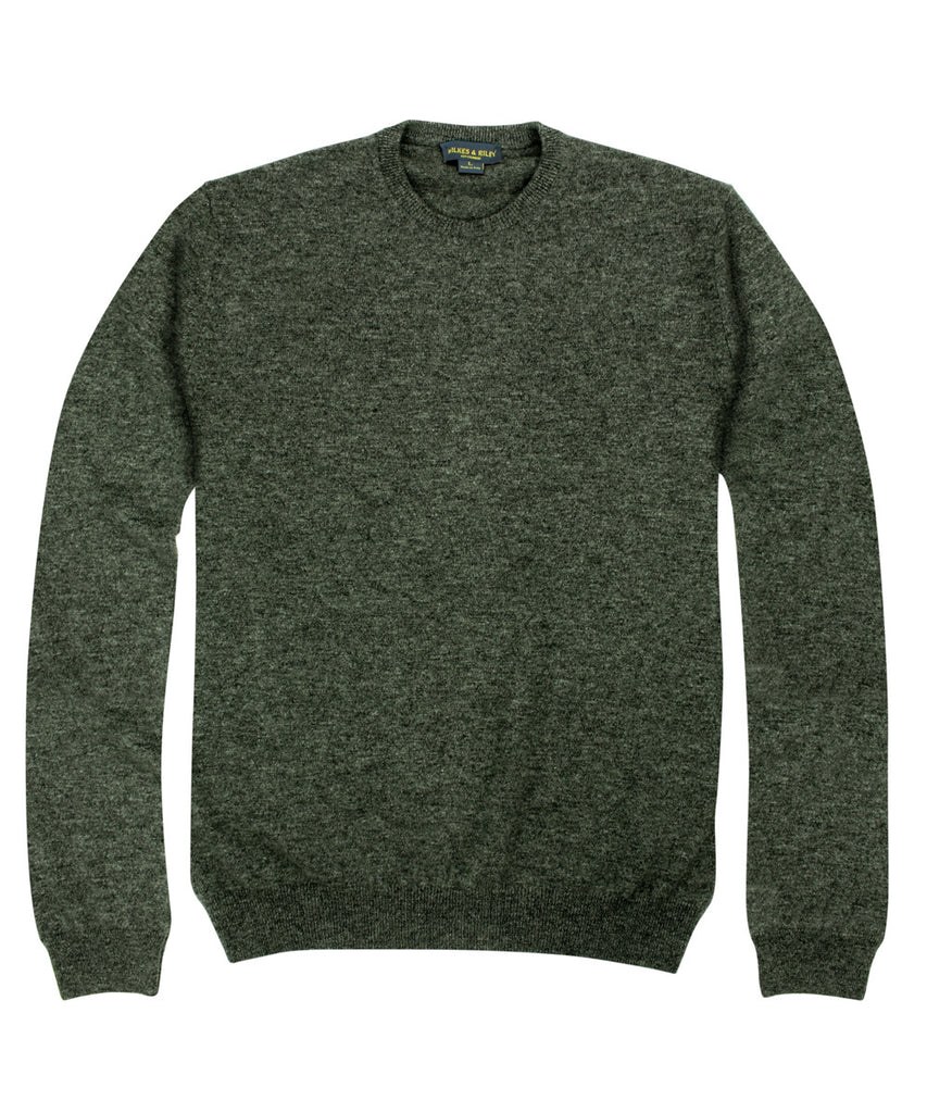 Wilkes & Riley 100% Cashmere Crewneck Sweater W/ Loro Piana Yarn in Charcoal