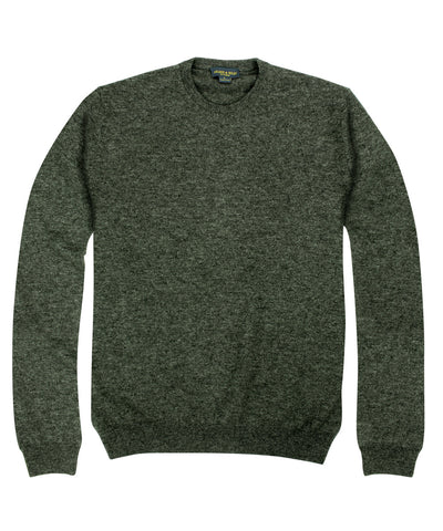 100% Cashmere Crewneck Sweater w/ Loro Piana Yarn - Charcoal