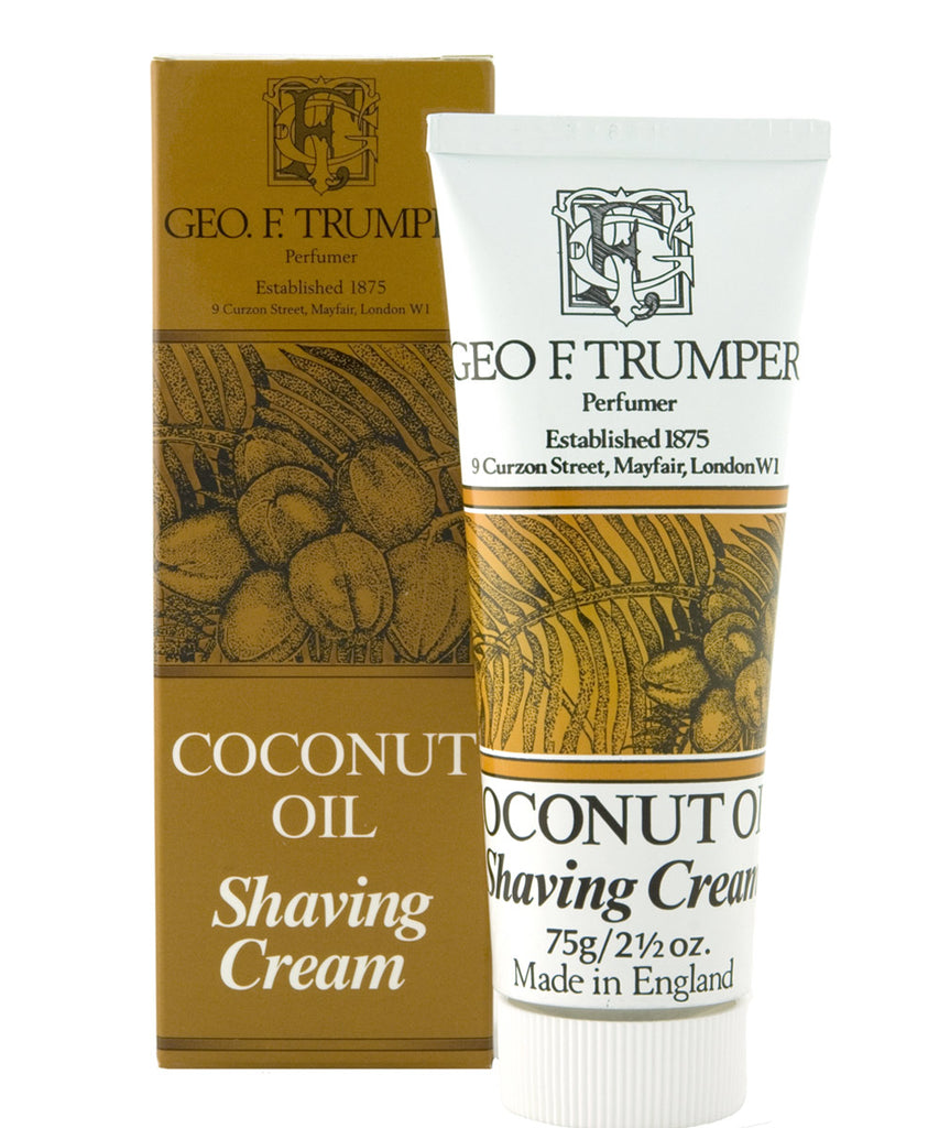 Coconut Oil Shaving Cream Tube 75g By Geo. F. Trumper