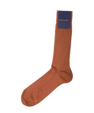 Copper Cotton Lisle - Mid Calf