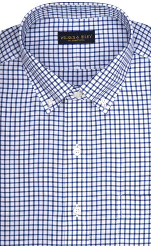 Wilkes & Riley Blue Check Button Down Sport Shirt