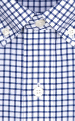 Wilkes & Riley Blue Check Button Down Sport Shirt Alt