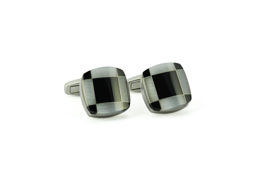 Black & White Square Cufflinks