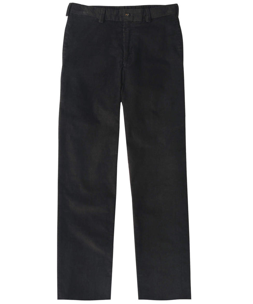 Corduroy Trousers from Bills Khakis - Classic Fit Plain Front (Granite)