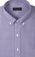 Wilkes & Riley Grape Gingham Button Down