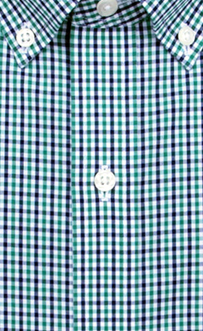 Wilkes & Riley Green Navy Tattersall Button Down Alt
