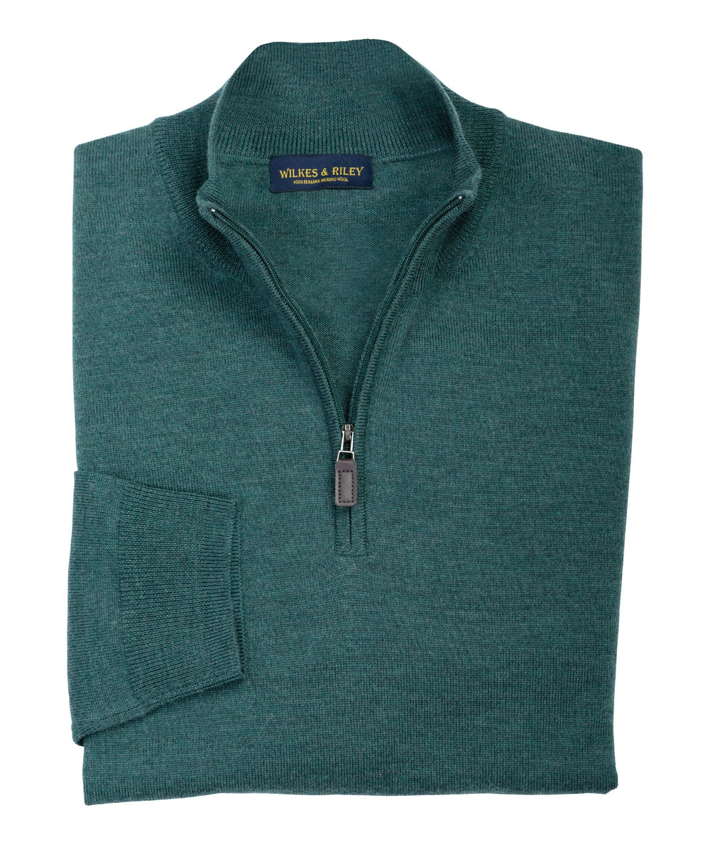 Wilkes & Riley Hunter half zip Merino sweater