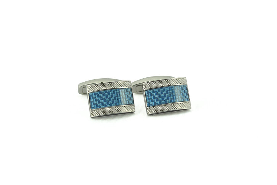 Lt. Blue Carbon Fiber Rectangle Cufflinks>VIEW FULL SIZE IMAGE</a>                                                                                                         <div id=
