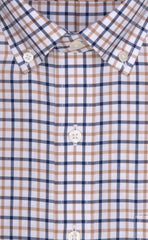 Wilkes & Riley Tan & Navy Check Button Down Alt