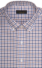 Wilkes & Riley Tan & Navy Check Button Down Sport Shirt