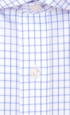 Wilkes & Riley Slim Fit White Ground Large Check English Spread Collar Supima® Cotton Non-Iron Broadcloth Dress Shirt Alt
