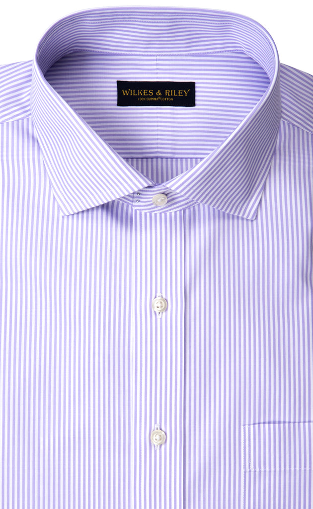 Wilkes & Riley Lavender Bengal English Spread Collar