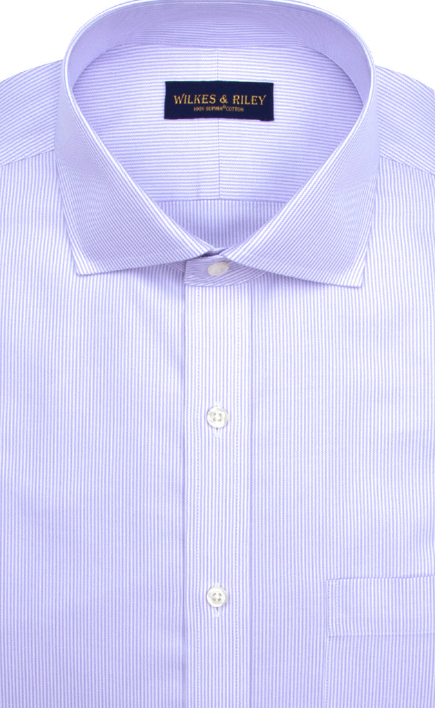 wilkes & riley lavender twill english spread collar