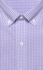 Lavender Mini Plaid Button Down Alt