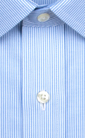 Wilkes & Riley Blue Twill Stripe Spread Collar Alt