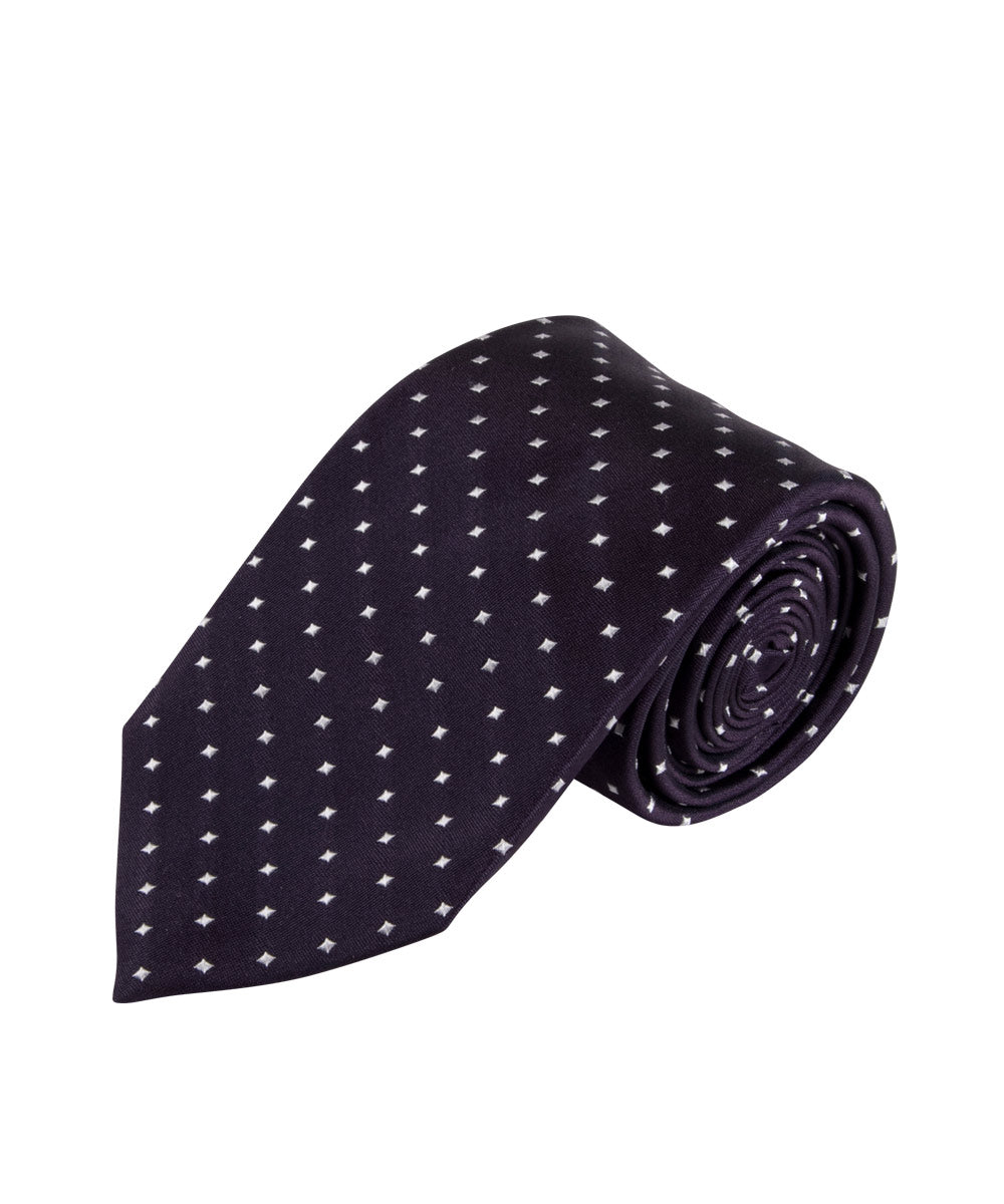 Wilkes & Riley Midnight Violet Dot Neckwear