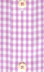 Tailored Fit Pink Gingham Check Button-Down Collar Supima® Non-Iron Cotton Broadcloth Sport Shirt (B/T)