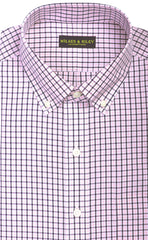 Wilkes & Riley Pink & Navy Tattersall Button Down