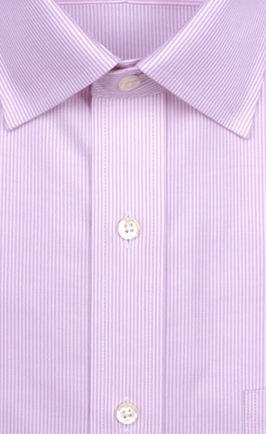 Wilkes & Riley Pink Twill Stripe Spread Collar Alt