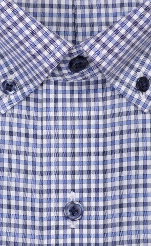 Wilkes & Riley Blue & Grey Check Button Down Alt