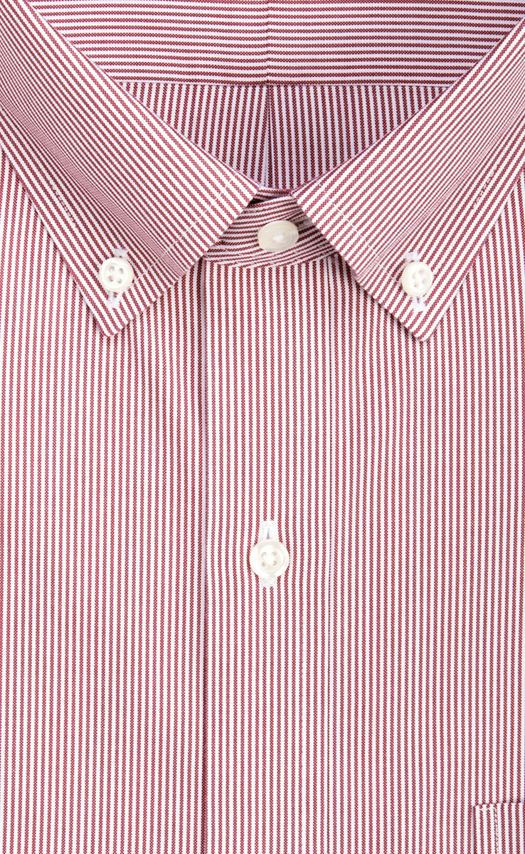 3231e84ee45 Non Iron Red Fine Line Button Down Collar Pinpoint Oxford Sport ...