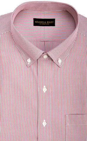 Wilkes & Riley Red Fine Line Button Down