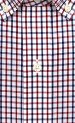 Wilkes & Riley Red & Navy Tattersdall Button down Alt