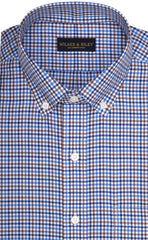 Tailored Fit Multi Color Check Button-Down Collar Supima® Cotton Twill Non-Iron Sport Shirt (B/T)