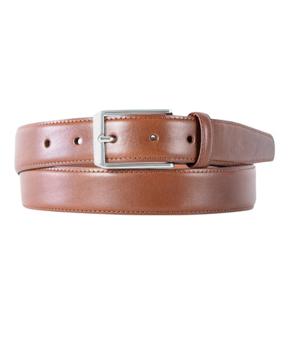 Walnut Calfskin Edge Stitched Belt