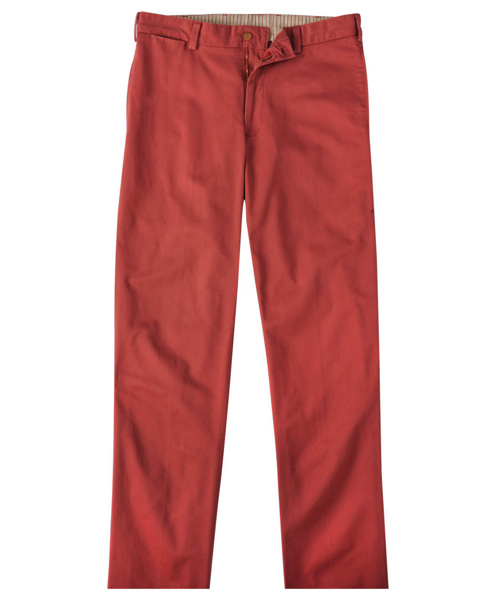 Bills Khakis - Classic Fit Plain Front Vintage Twill (Weathered Red)
