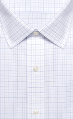 Wilkes & Riley Navy & Light Blue Tattersal Spread Collar Alt