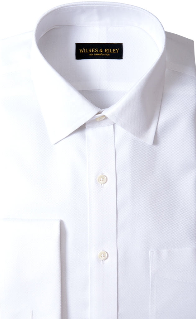 Wilkes & Riley White Royal Oxford Spread Collar French Cuff