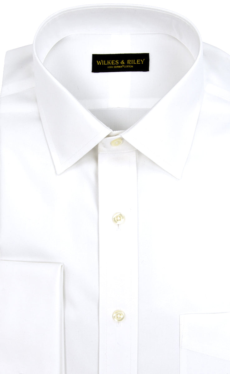 Wilkes & RIley White Spread Collar French Cuff