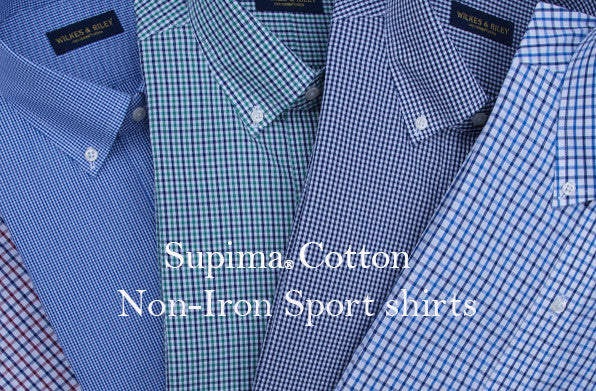 Wilkes & Riley non-iron short blazer shirts