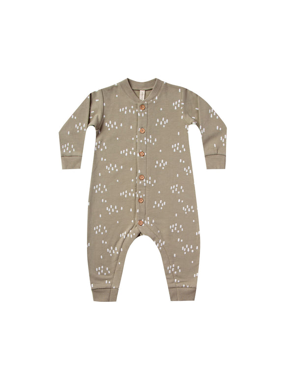 Quincy Mae Olive Fleece Jumpsuit