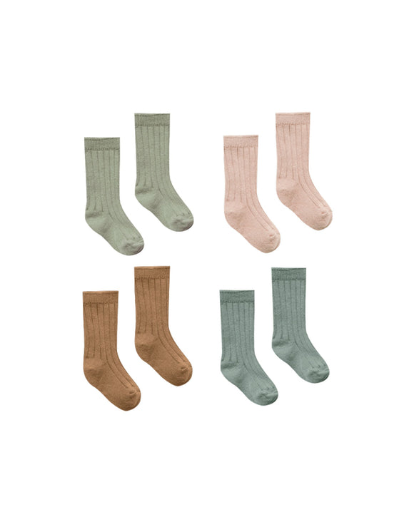 Quincy Mae Ribbed Baby Socks - Flying Ryno