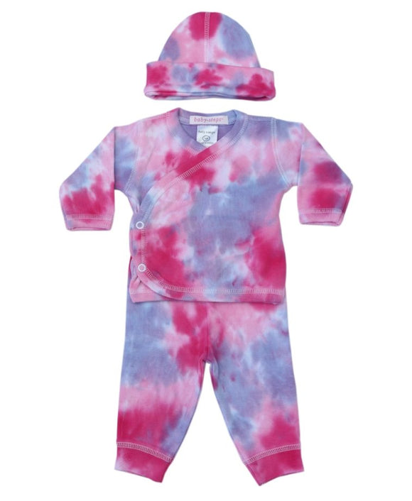 Baby Steps Tie Dye 3 Piece Set Diva - Flying Ryno