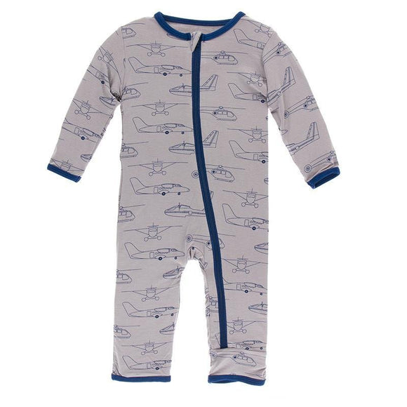 Kickee Pants Coverall with Zipper Feather Heroes in the Air - Flying Ryno