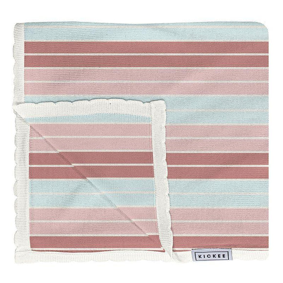 Kickee Pants Knitted Toddler Blanket Active Stripe - Flying Ryno
