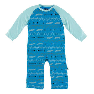 Kickee Pants Long Sleeve Raglan Romper Amazon Southwest - Flying Ryno