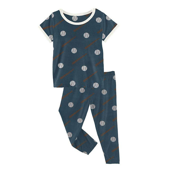 Kickee Pants Short Sleeve Pajama Set Deep Sea Baseball - Flying Ryno